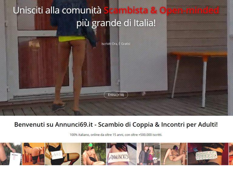 Immagine Sito Incontri Annunci69.it
